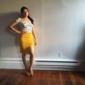 Fancy Yellow Skirt